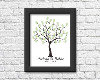 Personalized Thumb Print Tree | Weddings | Guest Book | Thumbprints | Shower | Anniversary | Sign in