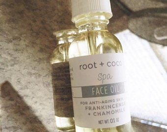 Facial Oil for Anti Aging Skin (with frankincense + chamomile)