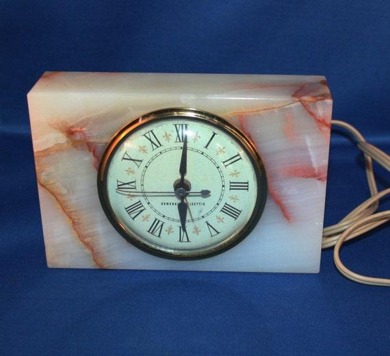 Electric Alarm Clock ~ Vintage working ge general electric alarm clock with alabaster