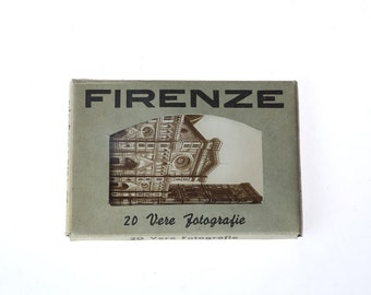 BLaCK and WHiTe Italy PHoToGRaPHS - vintage pack of FIRENZE - Italy  - BLaCK and WHiTe souvenirs PHoToGRaPHS - mini postcards