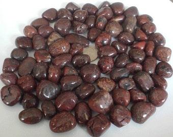 CINNABAR TUMBLED w/ PERIODOTITE Alchmist's Stone Abundance Wealth Releasing Blockages Rare