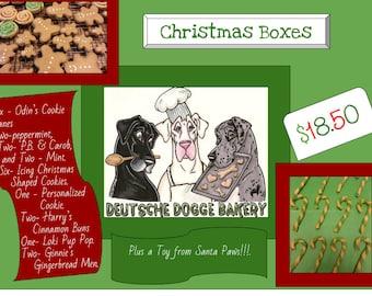 Dog Christmas Treat Box