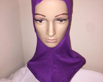 Purple Ninja Bonnet Scarf
