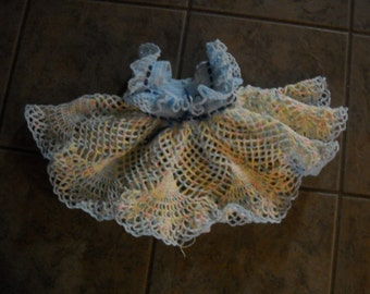 Beautiful NEW Hand Crocheted Dress Baby Girl HI-313