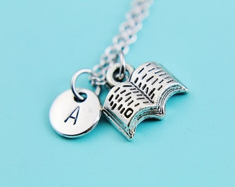 Book Lover Gift Miniature Book Necklace Miniature Book Charm Book Lover Jewelry Gifts Writers Pendants Author Gifts Writer Book Lover Gifts