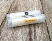 Lip Balm, Orange Lip Balm, Handmade, Natural Lip Balm, Chapstick, Lip gloss, Lip Butter, Lipstick, Favors, Gift for her, Shea Butter