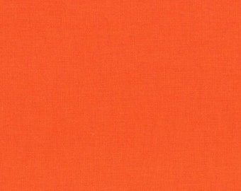 Kona Solid, Carrot, Cotton Solid Fabric, Orange Solid fabric, by Robert Kaufman 404
