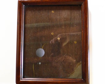 Midcentury Mahogany Picture Frame