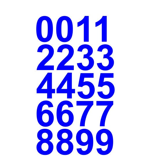 One Inch Reflective Letters And Numbers