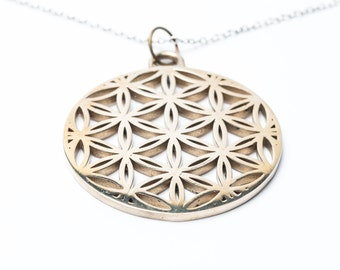 Bronze Flower of Life Pendant