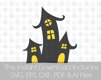 Haunted Mansion Svg, Haunted house, Vinyl cutting file for use in Silhouette Cameo Designer Edition & Cricut Design Space,