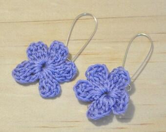 Handmade earrings -  Crochet jewelry