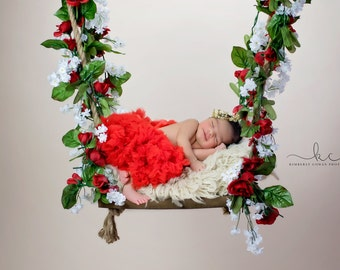 Digital Backdrop - Floral Swing - Newborns / Babies