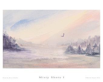 Fine Art Print - Misty Shore I - Marina Stuart
