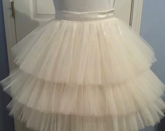 Three Tiered Tutu Tulle skirt
