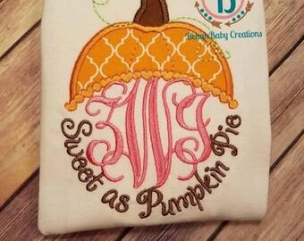 As sweet as pumpkin pie-pumpkin *Fall shirt*