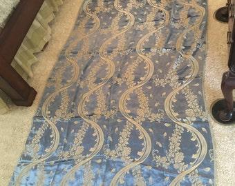 Vintage Damask curtain panels (2 panels)