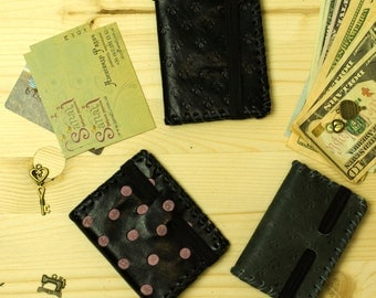 Portemonnaie - Leather Portemonnaie - Leather Coin Wallet - Leather Pouch - Coin Pouch - Customized Leather Portemonnaie
