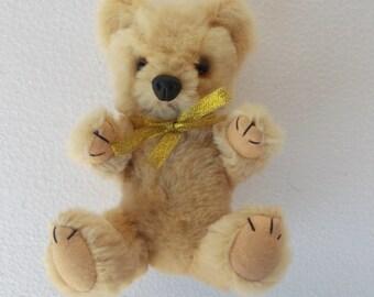 Vintage teddy bear, Pure wool teddy bear vintage mohair teddy bear pure wool teddy bear antique teddy bear collectible old bear