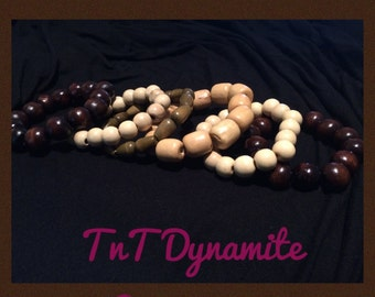 Wood Bead Bracelets(see pictures)
