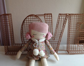 Girl cloth doll #4 by Kk and Boo