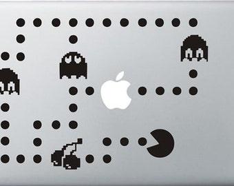 PacMan sticker Macbook