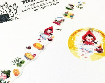 Little Red Ridding Hood washi sample (100cm)