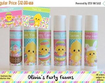 ON SALE Easter Party Favor - Easter Lip Balm - Easter Chicks - Set of 6 - Easter Class Favor - Easter Basket Favor - Easter Egg Hunt