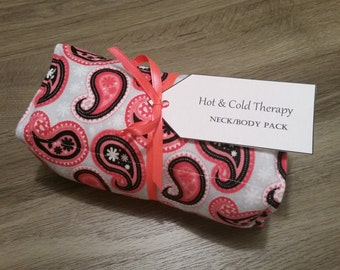 Pink Paisley Hot & Cold Therapy Rice Pack (Flannel)