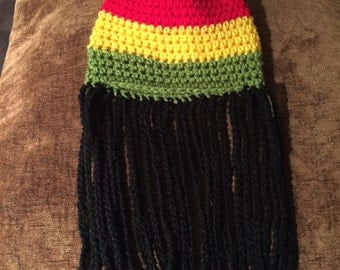 Jamaican rasta beanie hats with or without dread locks