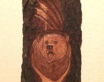 Bear Relief Carving