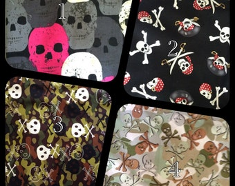 SKULLS Male  Dog Belly Band - Dog Diaper - - Submissive Urination  - Puppy Training diapers