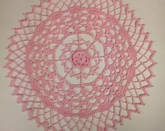"Light Pink Doilie - 12"" (#07-02-4)"