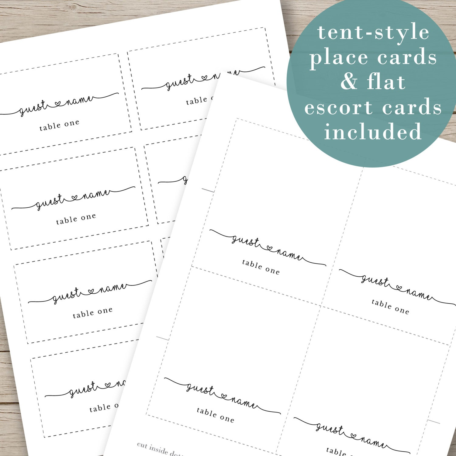 It's just a picture of Fabulous Printable Escort Cards
