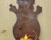 Rustic Rusty Tin Snowman Ornament