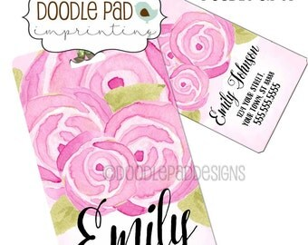 Personalized Roses Luggage Tag