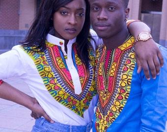African Vibrance Collection: Dashiki Tops