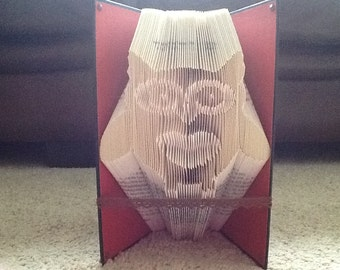 Owl folded book art