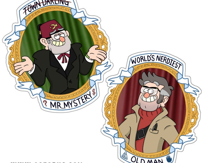 The Original Mystery Twins Stan and Ford Pines Set of 2
