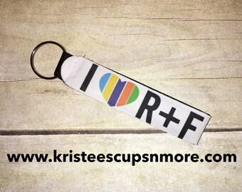 ON SALE** love R+F Keychain ILRF772901