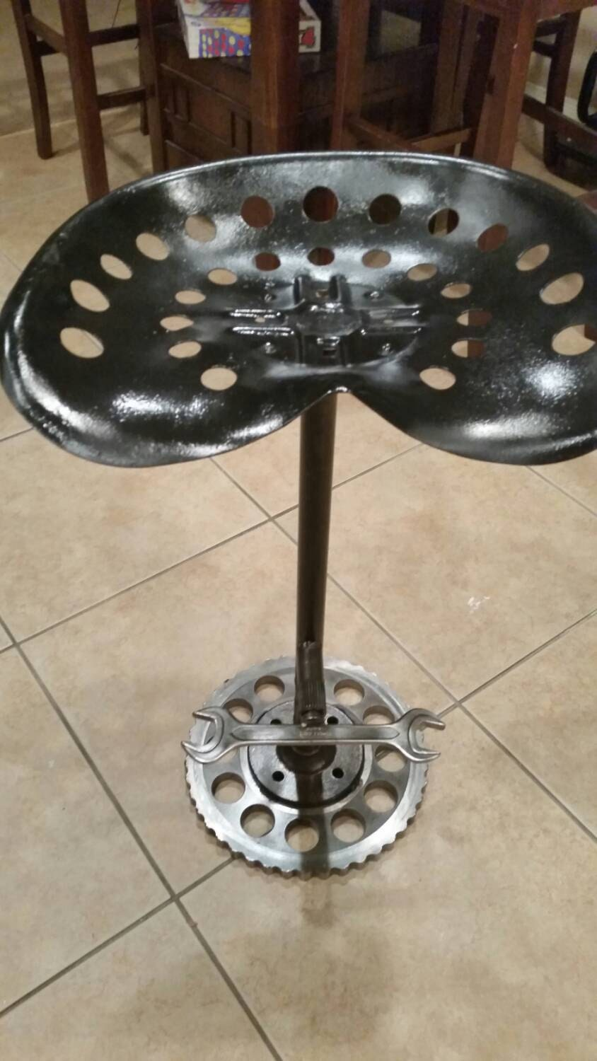 Antique Tractor Seat Stool