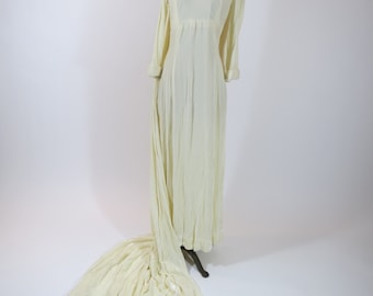1930/20s Silk Velvet Wedding Dress