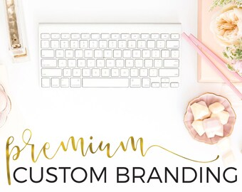 Custom Logo Design and Business Branding Package - Premium - Logo Design - Custom Marketing Set - Photography Branding Package, Blog Header