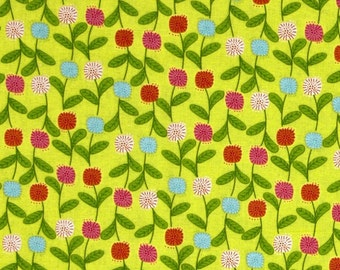 Sweet Tweet Yellow Flowers  Benartex Cotton Quilt Fabric     By the Yard BFab
