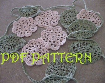 Crochet Flower Garland PDF Pattern