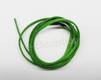 Faux leather strap type alcantara green 1 pc