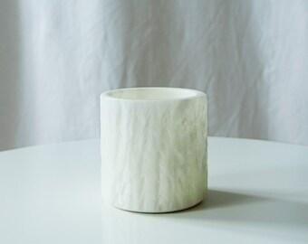 Vintage White Pencil Holder - Bohemian Vintage Vase
