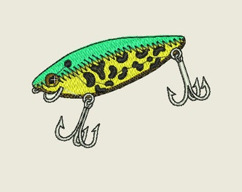 Fishing Lure Embroidery Design 4x4 hoop