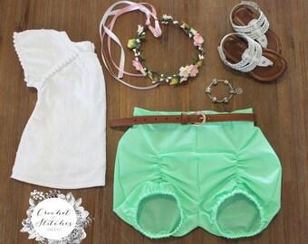 Girls Puckered Shorts ~ Sizes 000-3