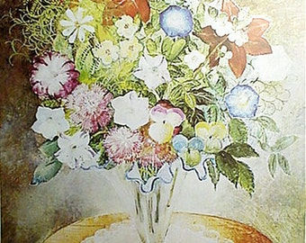Print, Flowers By Olga Sacharoff Artwork Reproduction, Floral & Gardens
